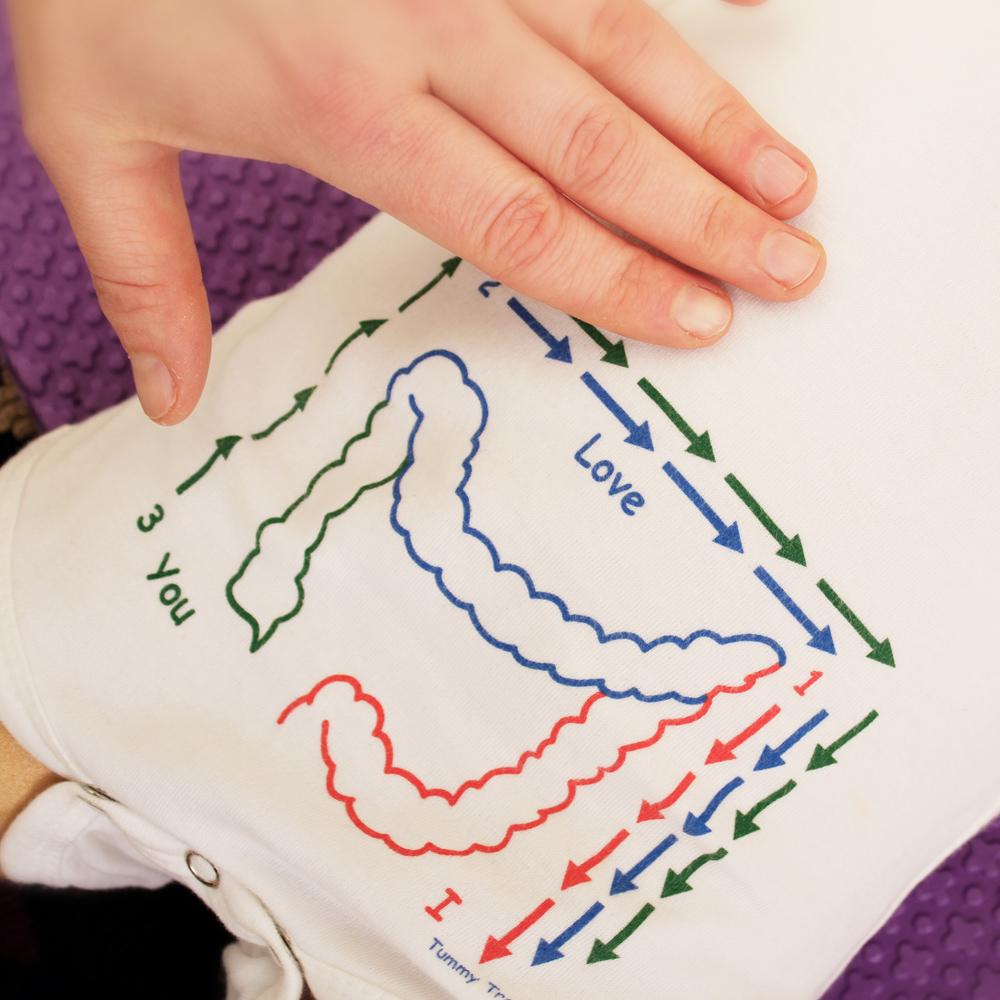 Baby massage teaching