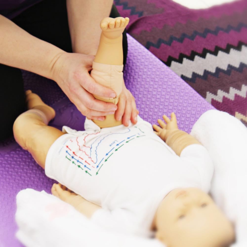Baby massage doll
